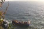Containerschiff Sao Gabriel vor Sao Miguel auf Grund gelaufen