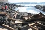 Herbststurm verwüstet Badestelle an der Ponta da Ferraria