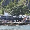 Im Hafen von Caloura wird gefeiert