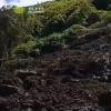 Zufahrtsstraße nach Faja da Ribeira da Areia nach Erdrutsch gesperrt