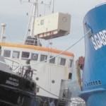 Container-Bergung von der Sao Gabriel, Foto: Correio dos Acores