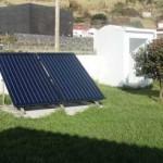 Solarpanels auf Corvo